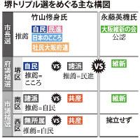 堺トリプル選をめぐる主な構図