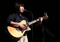 音楽部門で県代表に選ばれた野々村麻帆さん=栃木市旭町の市栃木文化会館で