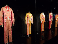 Jumpsuit costumes worn by the Jackson 5 are displayed at the