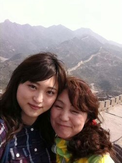 Matsuri Takahashi, left, and her mother Yukimi are pictured in this May 2013 photo taken at the Great Wall of China. (Photo courtesy of the Takahashi family)