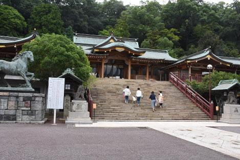 長崎市上西山町にある現在の諏訪神社