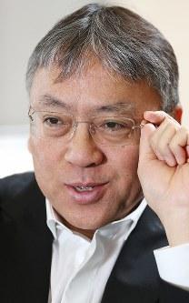 ノーベル文学賞の受賞が決まった小説家のカズオ・イシグロ氏=東京都千代田区で2015年6月9日、小出洋平撮影