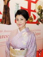 女優の藤原紀香さん=京都国立博物館で、中村真一郎撮影