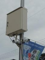 近鉄白子駅西口周辺に設置された防犯カメラ=鈴鹿市で