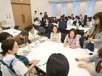 「希望するみんなが保育園に入れる社会をめざす会」が主催した「保活」イベント=東京都千代田区の衆院議員会館で2017年10月4日、中村かさね撮影