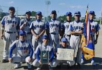 「第4回県市町村選抜ソフトボール選手権」で快進撃を見せ優勝した磯部のメンバー