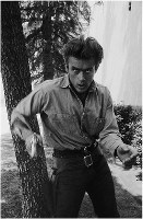 James Dean is seen in this recently digitized photograph. The original photo was taken by Sanford Roth and is part of a collection held by Seita Ohnishi. (C) 1987 by Seita Ohnishi