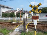 高松琴平電鉄(高松市)が販売する同種の踏切=同社提供