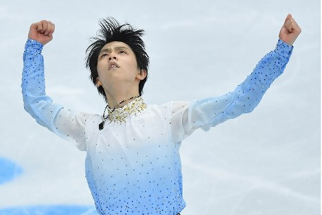 In Photos: Hanyu skates to 2nd place in men's SP at Rostelecom Cup
