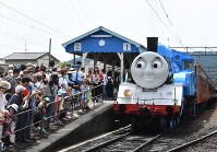 This June 11, 2016 file photo shows the special Oigawa Railway Co.