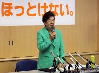 嘉田由紀子氏(無所属)滋賀1区=比例の重複立候補なく落選