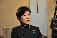Party of Hope leader Yuriko Koike is photographed in Paris on Oct. 22, 2017. (Mainichi)