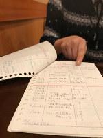 稲垣久子さん(仮名)は、診察の記録を克明に残している。「闘っている証しです」