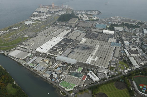 日産の追浜工場=神奈川県横須賀市で2017年10月20日撮影