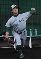 社会人野球の集大成となる日本選手権に向け、闘志を燃やすJR東日本の田嶋