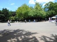 都立光が丘公園。前身は米軍の「グラントハイツ」、その前は日本陸軍の「成増飛行場」だった=東京都練馬区で2017年7月11日、栗原俊雄撮影