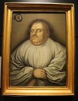 ルーカス・クラナッハ(父)が描いた死の床に横たわるルター。晩年のルターは激しいユダヤ人憎悪を抱いていた=ウィッテンベルクのマルティン・ルター記念館で