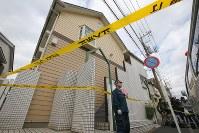 複数の遺体が見つかったアパート=神奈川県座間市で2017年10月31日午前11時3分、長谷川直亮撮影