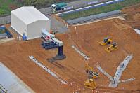 本格稼働が始まった中間貯蔵施設の土壌貯蔵施設