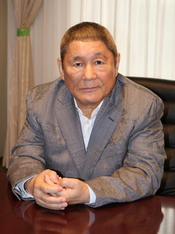 「アナログ」著者のビートたけしさん=2017年9月19日、木村光則撮影