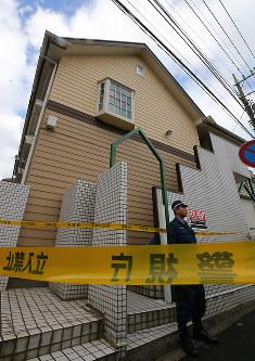 複数の遺体が見つかったアパート=神奈川県座間市で2017年10月31日午前10時55分、長谷川直亮撮影