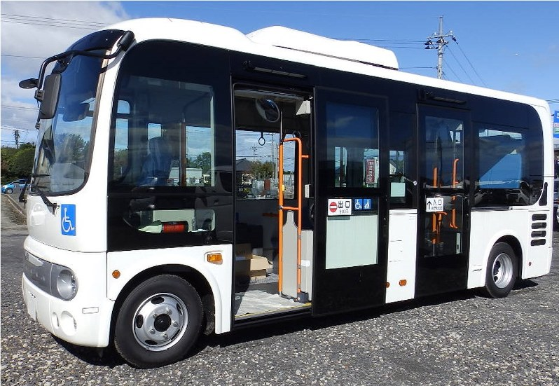 Autonomer Bus im Regelbetrieb in Japan.