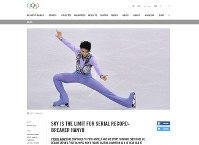 The International Olympic Committee features Japanese figure skater Yuzuru Hanyu in the news section of its official website on Nov. 6. (Image from the International Olympic Committee website)