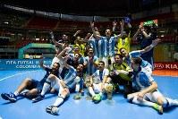 昨年のフットサルW杯を制したアルゼンチン代表 [写真]=FIFA via Getty Images