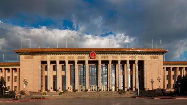 共産党大会が開催された中国・北京の人民大会堂