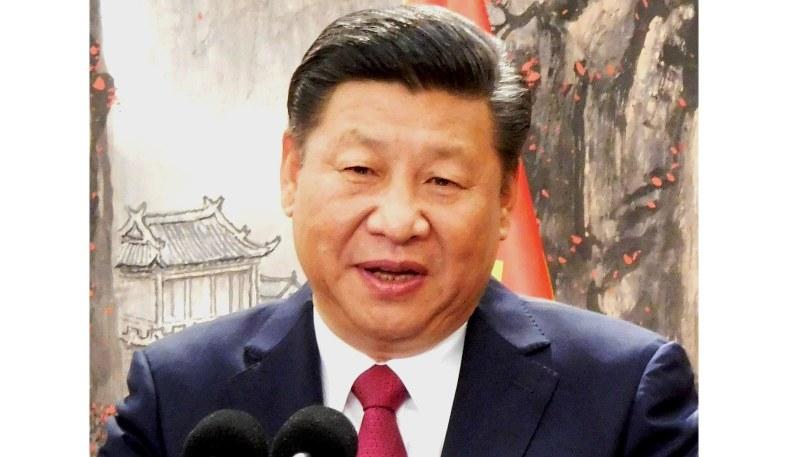 中国の習近平国家主席=2017年10月25日、河津啓介撮影