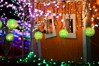 The light display at Country Farm Tokyo German Village, which consists of about 3 million multicolored lights in total, is seen in Sodegaura, Chiba Prefecture, on Nov. 2, 2017. (Mainichi)