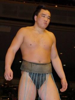 幕下の安馬=東京・両国国技館で2004年1月13日、米田堅持写す
