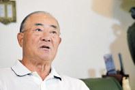 緊迫する北朝鮮情勢を憂える張本勲さん=東京都内で、西本勝撮影