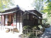 夏目漱石が「吾輩は猫である」を執筆した住宅=愛知県犬山市の博物館明治村で、玉木達也撮影