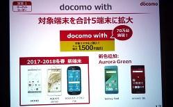 対象端末が5機種に拡大したドコモウィズ。10月時点で70万契約を突破