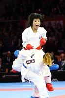 2016年の世界選手権大会、20歳にして銀メダルを獲得した女子組手50キロ級の宮原美穂=空手道マガジンJKFan提供