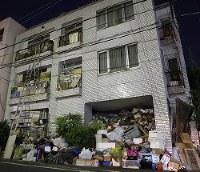 暴行容疑で逮捕された相沢秀行容疑者の自宅=名古屋市中区で2017年11月21日午後5時50分、兵藤公治撮影