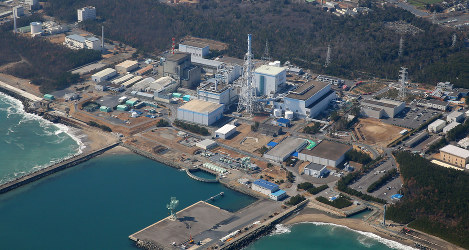 The halted Tokai No. 2 Power Station in Tokai, Ibaraki Prefecture, is seen from a Mainichi helicopter on March 4, 2017. (Mainichi)