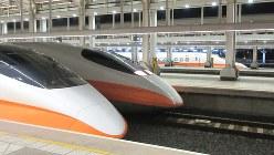 日本の新幹線700系と同じ車両の台湾高速鉄道=左営駅(写真は筆者撮影)