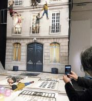 レアンドロ・エルリッヒの鏡を利用した大型作品「建物」