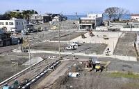 火災の被害を受けた地域では復旧工事が進められていた=新潟県糸魚川市で2017年11月13日、藤井達也撮影