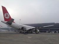 観光客の増加などを見込んで2013年に新ターミナルが整備されたコソボの首都プリシュティナにある国際空港=ターキッシュエアラインズ提供