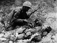 戦死した日本の従軍看護婦とみられる女性