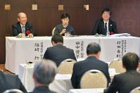 九州地区の大学関係者が耳を傾けた毎日大学フォーラムで=10月26日、福岡市内で