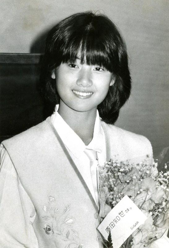毎日映画コンクール・スポニチグランプリ新人賞を受賞した当時の原田知世さん