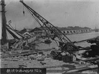 関東大震災直後の横浜港=防災科学技術研究所提供