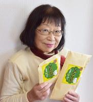 なた豆茶を新発売した藤江富美子さん=島根県出雲市で、山田英之撮影