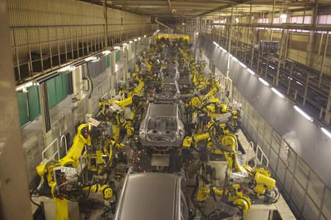 日産自動車九州の工場