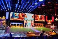 「クラッシュ・ロワイヤル」の世界一決定戦のオープニングセレモニー=英ロンドンのカッパー・ボックスアリーナで2017年12月3日
