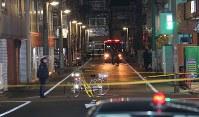 事件があった現場=東京都江東区で2017年12月7日午後10時14分、長谷川直亮撮影